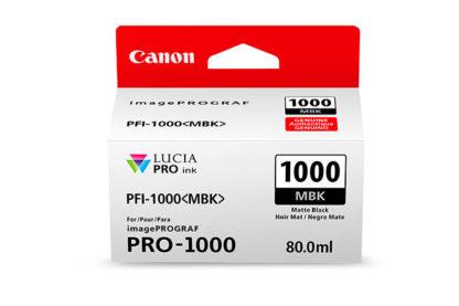 Cartucho canon pfi - 1000 mbk negro mate