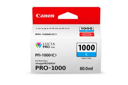 Cartucho Canon PFI 1000 C Cian 3