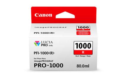 Cartucho Canon PFI-1000 R Rojo