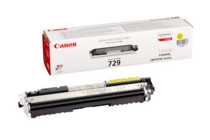 Cartucho Toner Canon 729Y Amarillo